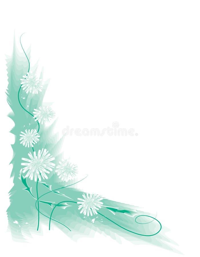Witte bloemen stock illustratie