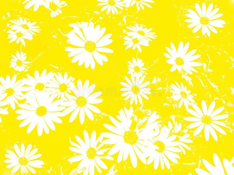 Witte bloemen als achtergrond vector illustratie