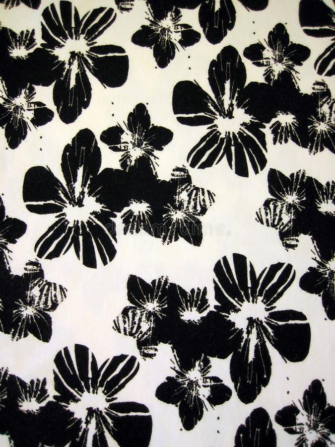 Witte bloemenstof royalty-vrije stock afbeelding