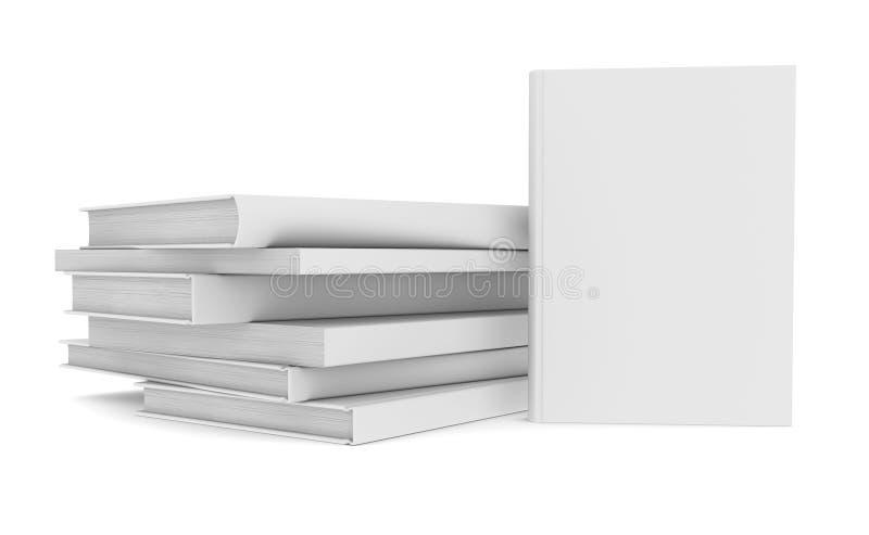 Witte boeken royalty-vrije illustratie