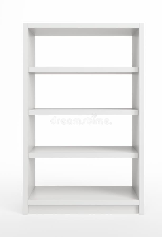 Witte boekenkast stock illustratie
