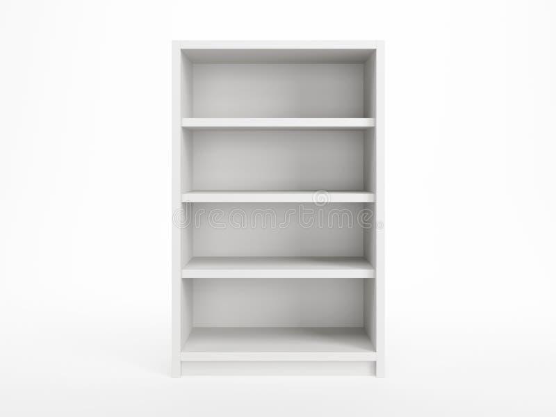 Witte boekenkast vector illustratie
