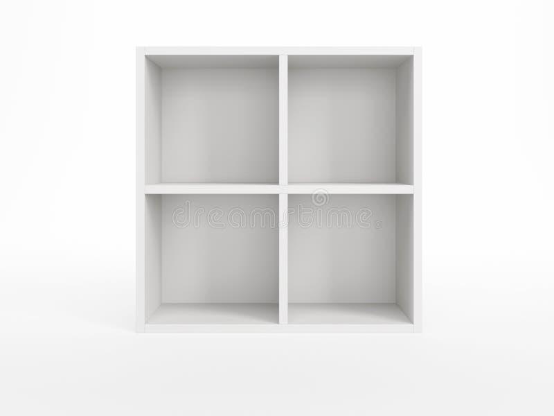 Witte boekenkast royalty-vrije illustratie