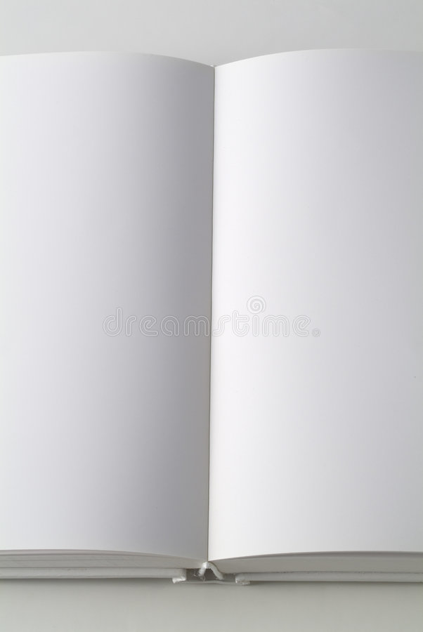 Witte boekverticaal stock foto