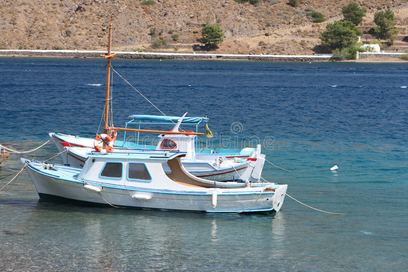 Witte boten stock afbeeldingen