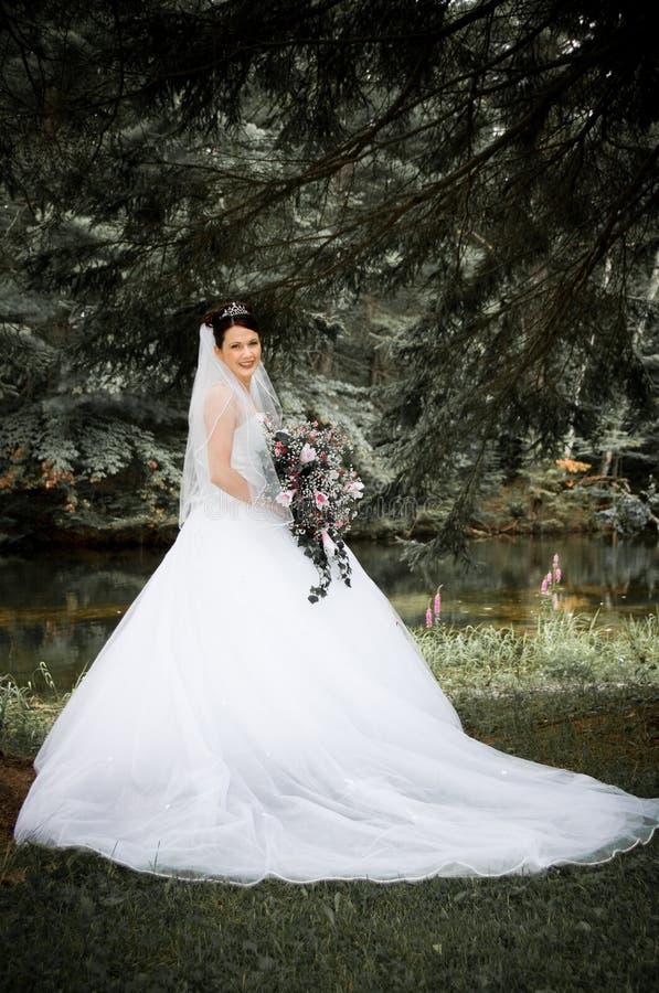 Witte Bruid stock foto
