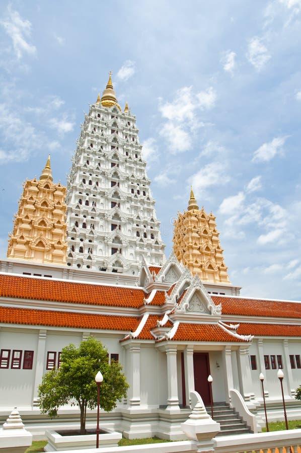 Witte buddhagayapagode stock afbeelding