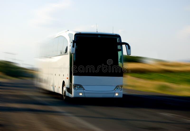 Witte bus stock afbeeldingen