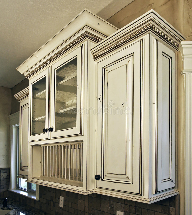 Witte cabinetry keuken stock fotografie