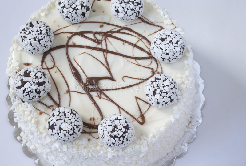 Witte cake stock afbeelding