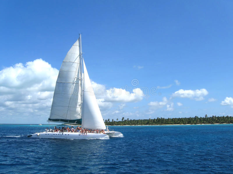 Witte catamaran stock fotografie