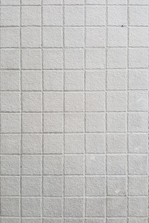 Witte ceramische muur en vloertegel, de achtergrond van de mozaïektextuur royalty-vrije stock foto's