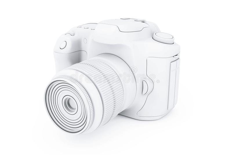 Witte Clay Mockup Modern Digital Photo-Camera het 3d teruggeven vector illustratie