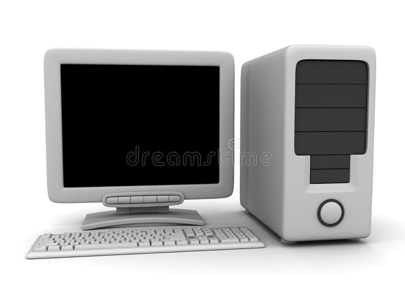 Witte computer royalty-vrije illustratie