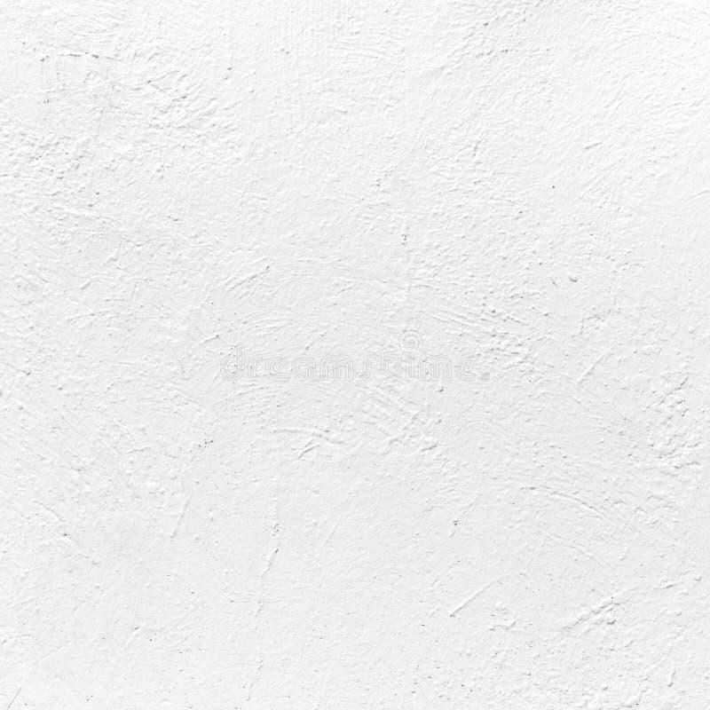 Witte concrete muur met pleister Achtergrond textuur stock afbeeldingen