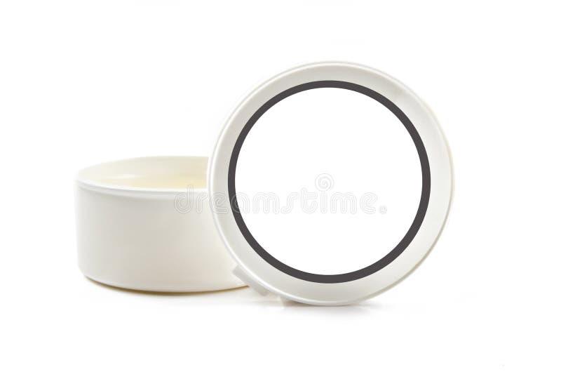 Witte container met ruimte voor tekst stock fotografie