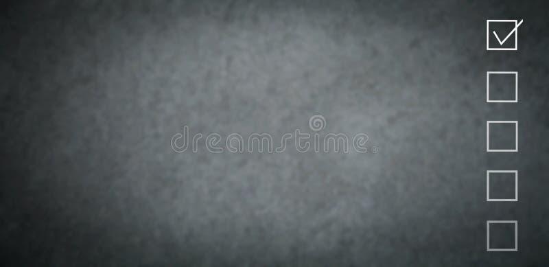 Witte controlelijst Ruimte voor uw tekst Goedgekeurd symbool royalty-vrije stock foto