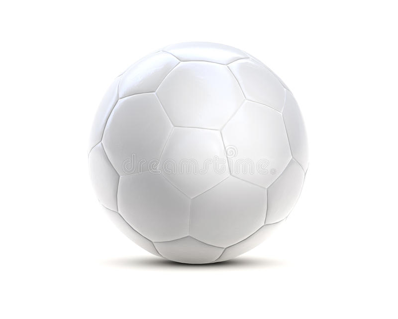 Witte 3d van de voetbalbal royalty-vrije stock foto
