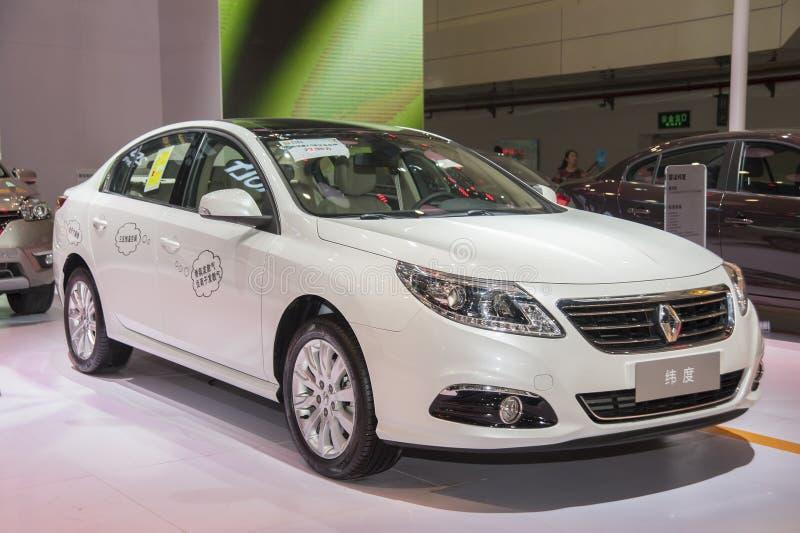 Witte de breedteauto van Renault stock afbeelding