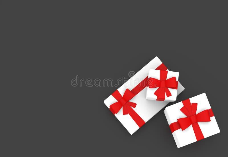 Witte de Doos Vastgestelde Hoogste Mening Twee van het Giftpak vector illustratie
