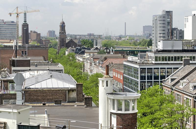 Witte de Withstraat von oben lizenzfreie stockbilder