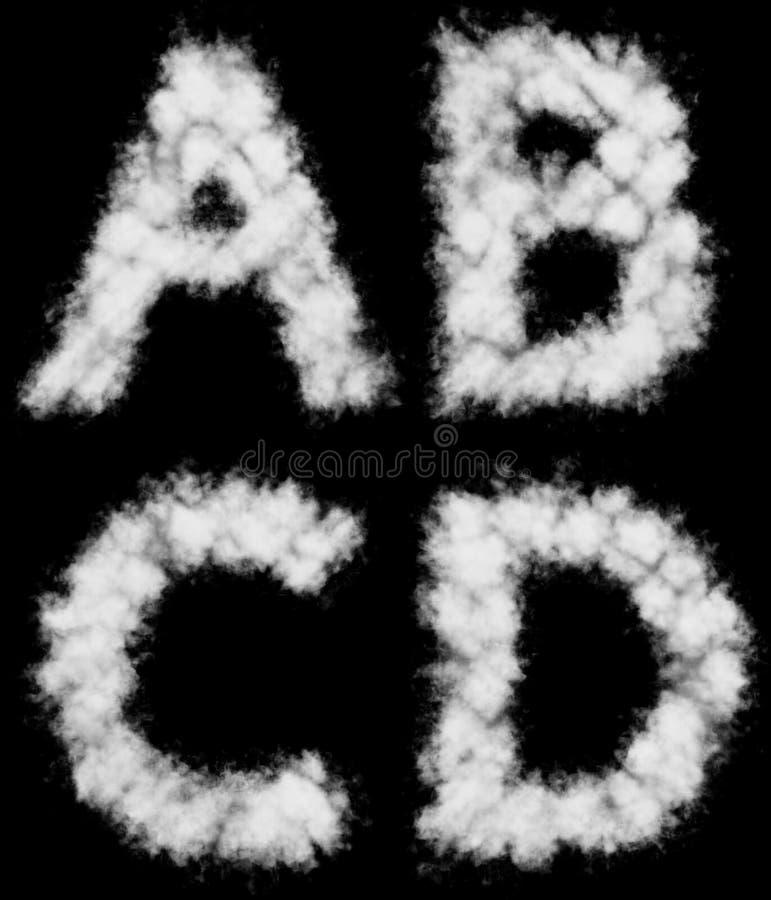 Witte de wolkenvormen van ADVERTENTIEbrieven stock illustratie