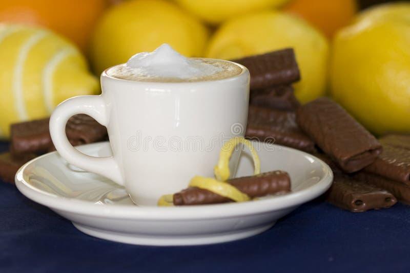 Witte demitassekop van de espresso stock foto