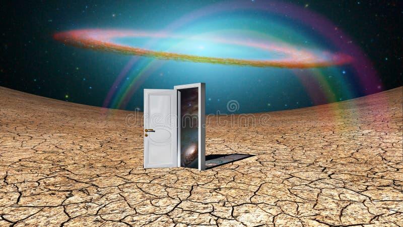 Witte deur vector illustratie