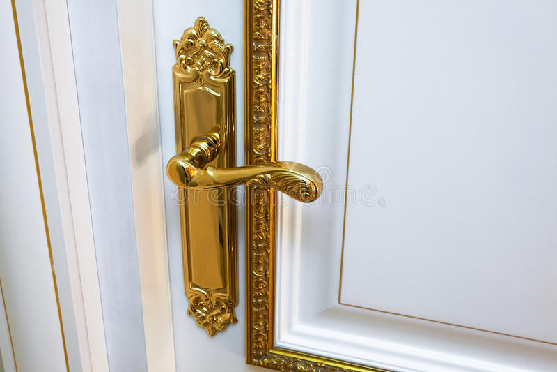 Witte deur stock fotografie