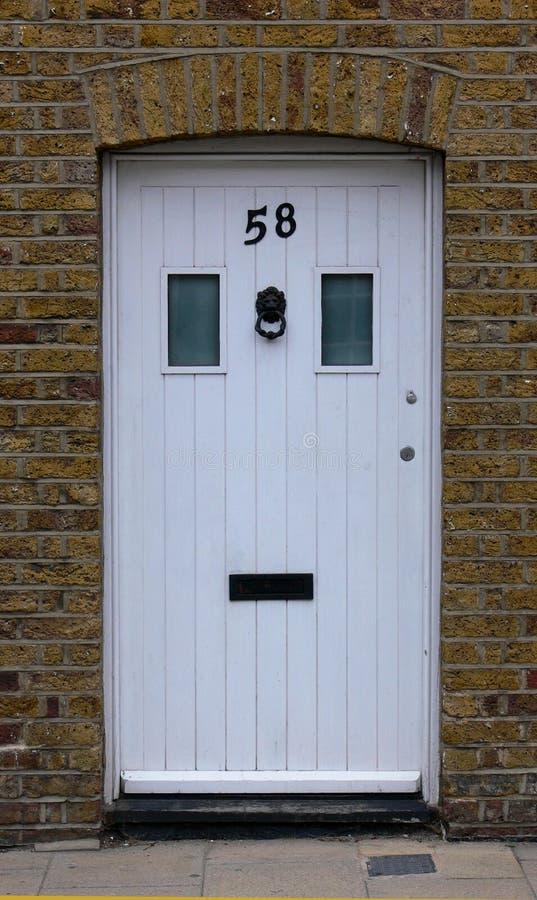 Witte deur stock afbeelding