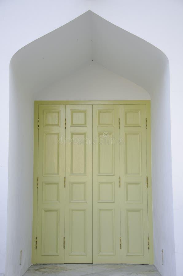 Witte deur stock afbeeldingen