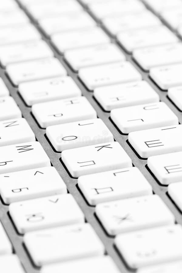 Witte dichte omhooggaand van het computertoetsenbord stock foto's