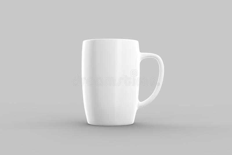 Witte die mokspot omhoog op lichtgrijze achtergrond wordt geïsoleerd 3D illustra vector illustratie
