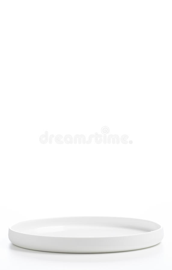 Witte die plaat over wit wordt geïsoleerd royalty-vrije stock fotografie