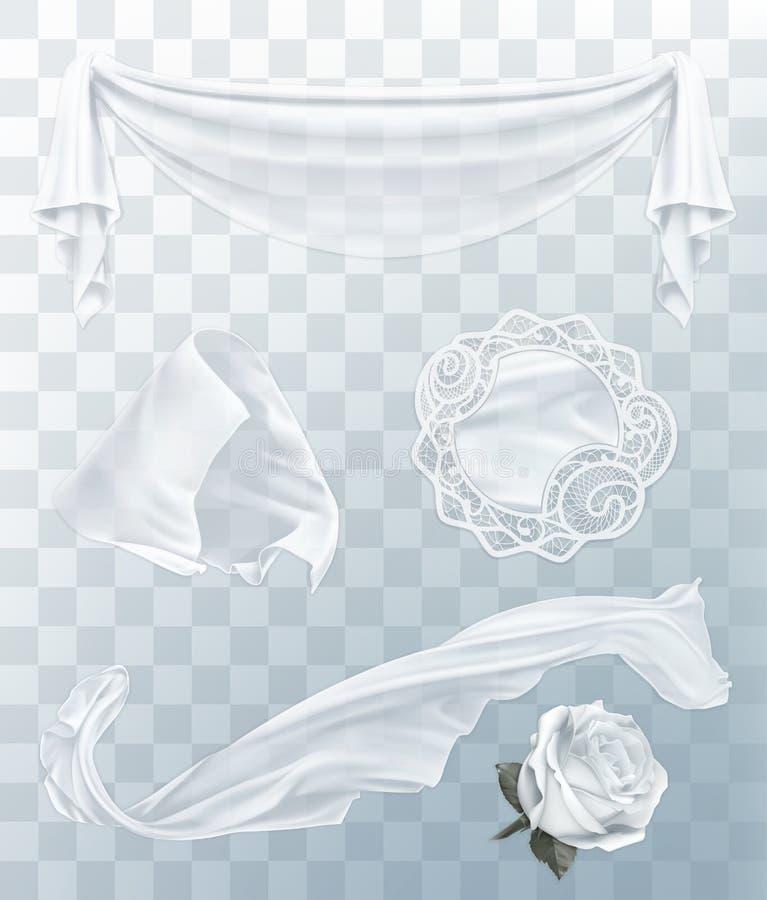 Witte doek met transparantie stock illustratie