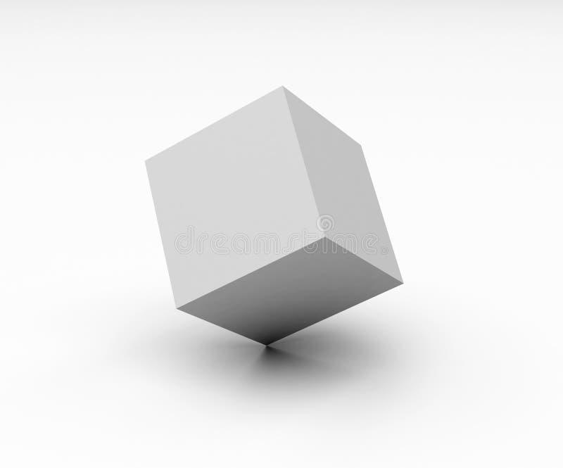 Witte doos royalty-vrije illustratie