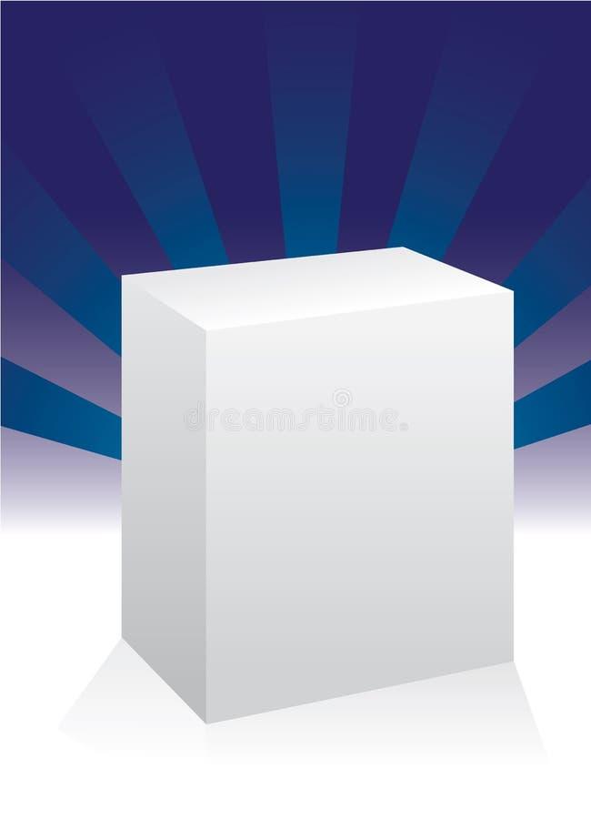 Witte doos vector illustratie