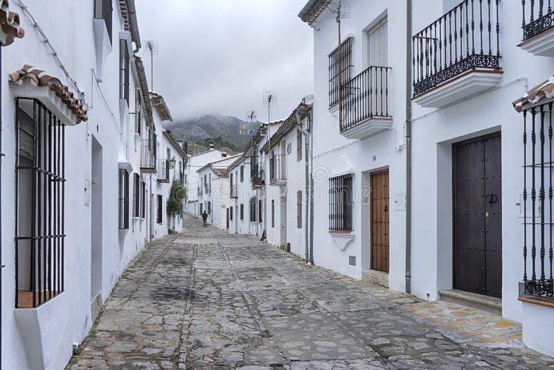 Witte dorpen van de provincie van Cadiz, Grazalema stock fotografie