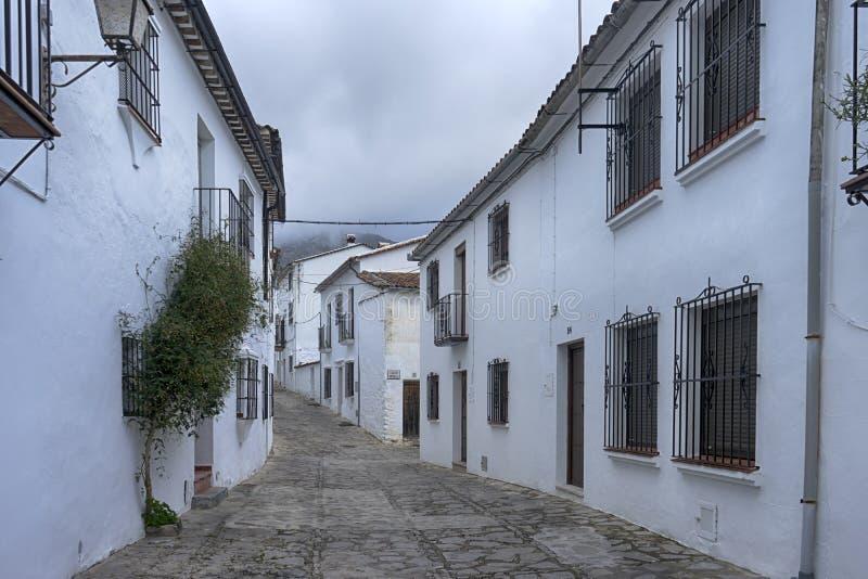 Witte dorpen van de provincie van Cadiz, Grazalema royalty-vrije stock fotografie