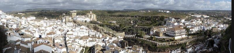 Witte dorpen van de provincie van Cadiz, Setenil de las Bodegas stock foto's