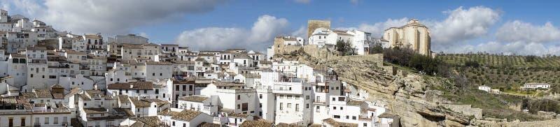 Witte dorpen van de provincie van Cadiz, Setenil de las Bodegas stock afbeeldingen