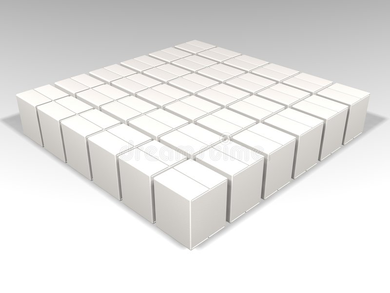 Witte dozen royalty-vrije illustratie