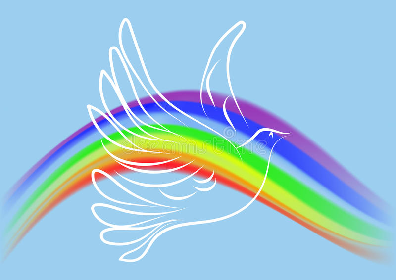 Witte duif stock illustratie