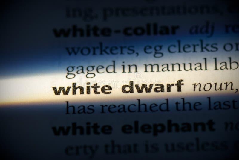 Witte dwerg stock foto