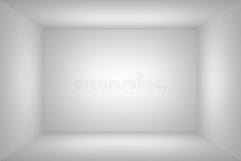 Witte eenvoudige lege ruimte royalty-vrije illustratie