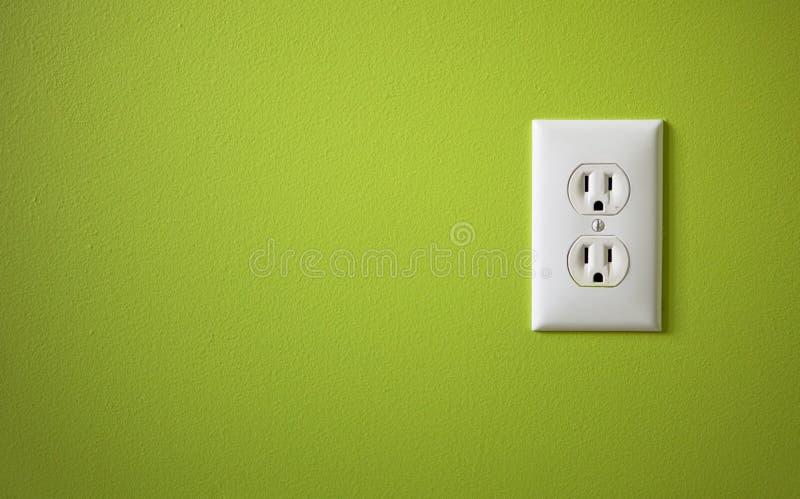 Witte elektrische afzet royalty-vrije stock foto