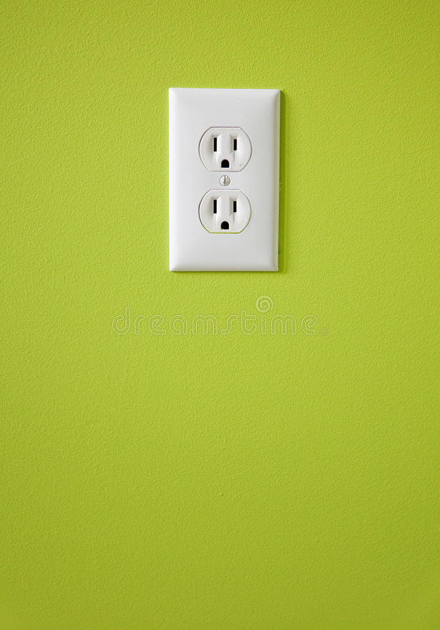 Witte elektrische afzet stock fotografie