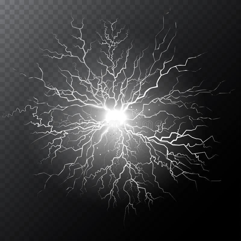 Witte elektrische bliksembout stock fotografie