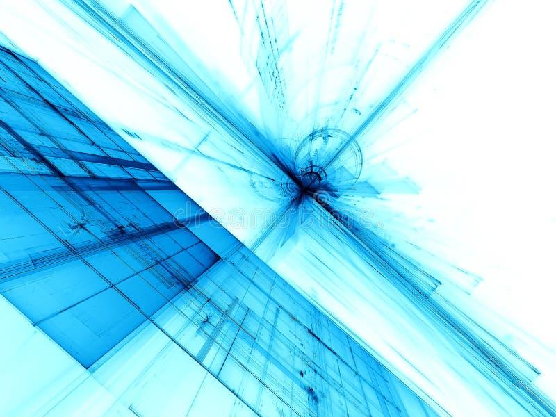 Witte en blauwe achtergrond - digitaal geproduceerd beeld stock illustratie