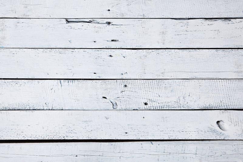 Witte en Blauwe Houten Oppervlakte royalty-vrije stock foto's
